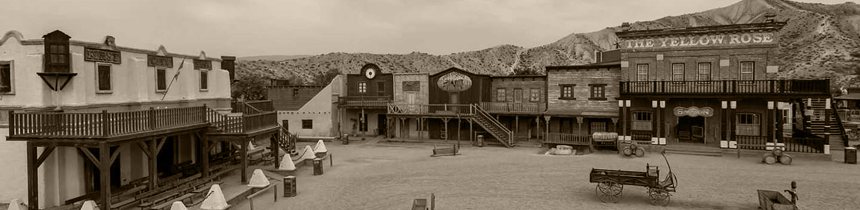Tabernas (Almería) the town that contains the most famous desert in the spaghetti western